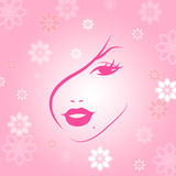 Make Up Indicates Facial Care And Attractive Royalty Free Stock Photos