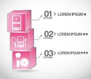 Make up infographics Stock Photography