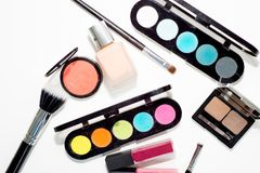 Make up items. Several make up items on white background Stock Image
