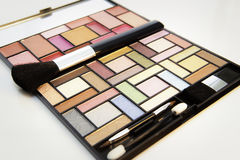 Make-up kit. On white background Stock Images