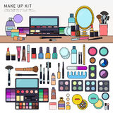 Make up kit on the table Royalty Free Stock Photography