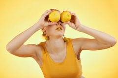 Make up lemon Stock Images