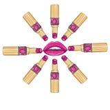 Make up lipstick - woman lips Stock Image