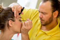 Make-up Man Artist Stock Photo