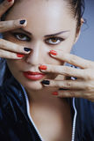 Make-up and manicure Royalty Free Stock Photography