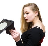 Make-up before a mirror Stock Image