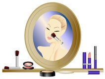 Make-up Mirror Royalty Free Stock Image