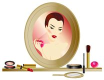Make-up Mirror Stock Photo
