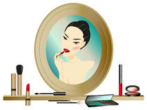 Make-up Mirror stock illustration