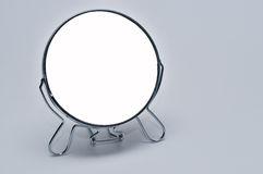 Make up mirror. Round make up mirror with copyspace in center Royalty Free Stock Photos