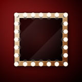 Make up mirror with light bulbs Royalty Free Stock Photos