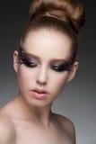 Make-up mit Bergkristallen Stockfotografie
