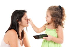 Make up Mom Stock Photo