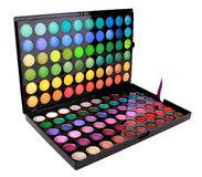 A make-up multi colored palette Stock Photography