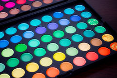 A make-up multi colored palette Royalty Free Stock Images