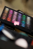 Make-up multi colored palette close up Royalty Free Stock Photos