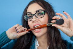 Make up is my name. Nice girl Royalty Free Stock Images
