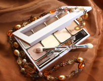 Make-up with necklace Royalty Free Stock Image