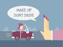 Make up no conduce stock de ilustración