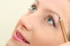 Make-up On Smiling Woman Face Royalty Free Stock Photos