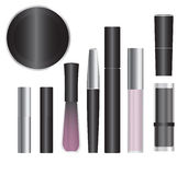 Make-up packages. Set of vector cosmetic packages samples for product design Royalty Free Stock Photos