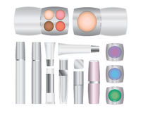 Make-up packages. Set of vector cosmetic packages samples for product design Royalty Free Stock Photography