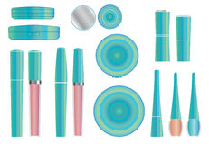 Make-up packages. Set of vector cosmetic packages samples for product design Royalty Free Stock Photo