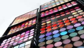 Make-up palette and brushes Stock Photography
