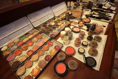 Make-up Palette. On the table Stock Image