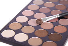 Make-up palette. On a white background Stock Photography
