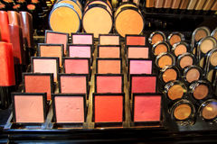 Make-up palettes. Colorful make-up palettes - eye-shadows and compact powder Stock Photo