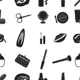 Make up pattern icons in black style. Big collection of make up vector symbol stock illustration . Royalty Free Stock Photo