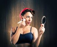 Make-up pin-up Royalty Free Stock Images
