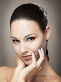 Make-up portrait Royalty Free Stock Image