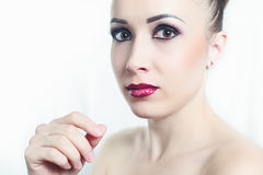 Make-up portret Royalty Free Stock Photography