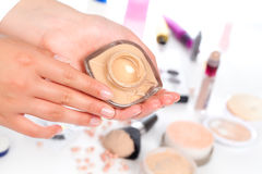 Make up powder Stock Images