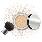 Make up powder, blush. Skincare, beauty lifestyle. Stock Image