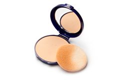 Make-up powder in box Stock Images