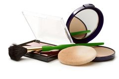 Make up powder in box Royalty Free Stock Image