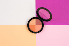 Make up powder in a case Royalty Free Stock Photos