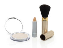 Make-up powder set Royalty Free Stock Photo