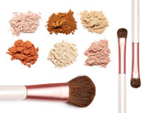 Make up powder sweet color on white background. For make up artist Stock Photography