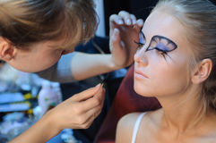 Make up preparation. Royalty Free Stock Image