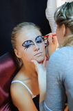 Make up preparation. Royalty Free Stock Photography