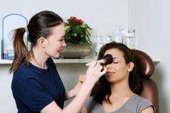 Make up process Royalty Free Stock Photo
