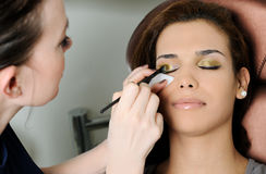 Make up process Royalty Free Stock Image