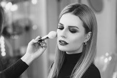 Make up process Royalty Free Stock Photos