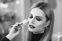 Make up process Royalty Free Stock Images