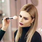Make up process Stock Image