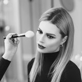 Make up process Royalty Free Stock Image